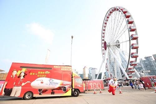 越捷航空公司开通越南富国至中国香港的直达航线 - ảnh 1