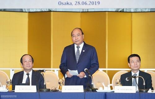 阮春福出席G20峰会相关活动 - ảnh 1