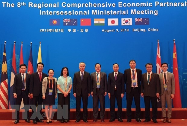 越南出席在中国举行的RCEP第八次部长级会议 - ảnh 1