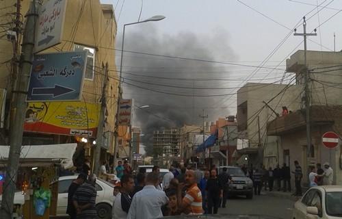 Serangan bom terjadi di luar Kantor Konsulat Amerika Serikat di Irak - ảnh 1