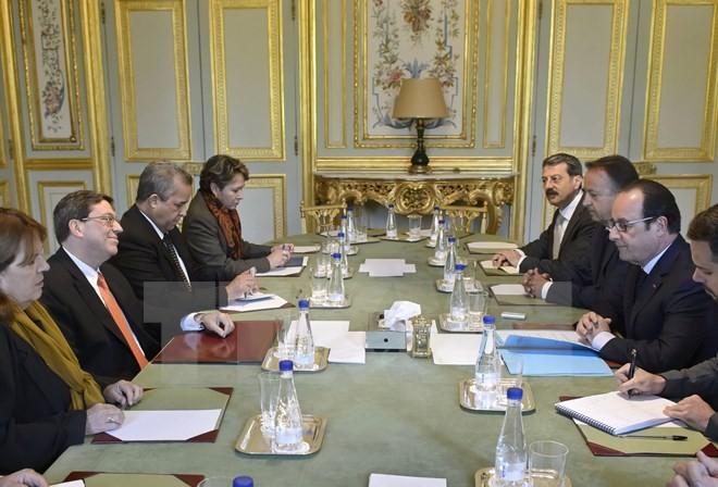 Perancis dan Kuba memperkokoh hubungan bilateral - ảnh 1