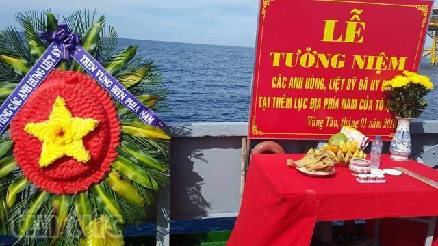 Acara mengheningkan cipta para martir yang gugur di zona landas kontinen di Vietnam Selatan - ảnh 1
