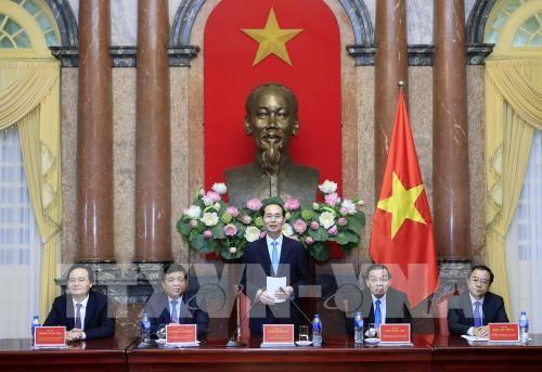 Réseau d'innovation vietnamien : des élites reçues par Trân Dai Quang  - ảnh 1
