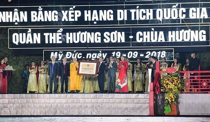 Remise du certificat de vestige national spécial à Huong Son - ảnh 1