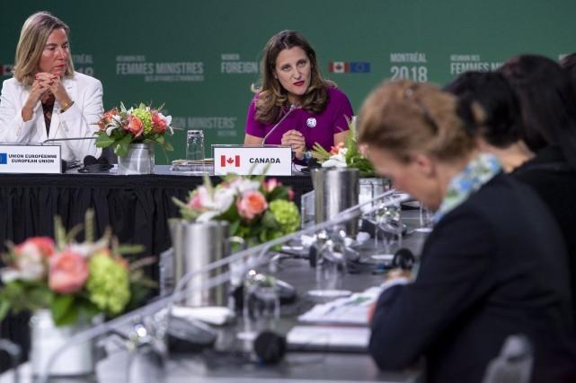 Première réunion de femmes ministres des Affaires étrangères à Montréal - ảnh 1
