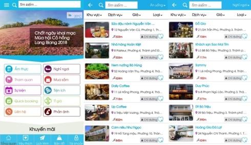 « Dalat City », une application qui facilite votre séjour à Dà Lat - ảnh 3