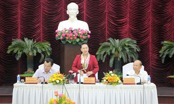 Nguyên Thi Kim Ngân travaille avec les dirigeants de Binh Thuân - ảnh 1