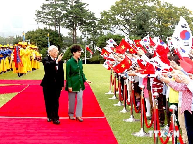 KPV-Generalsekretär Nguyen Phu Trong endet seinen Südkorea-Besuch  - ảnh 1