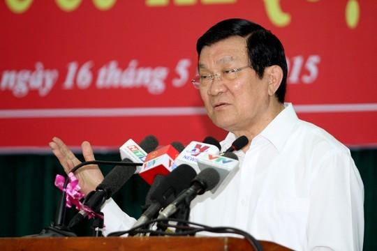Staatspräsident Truong Tan Sang trifft Wähler von Ho Chi Minh Stadt - ảnh 1