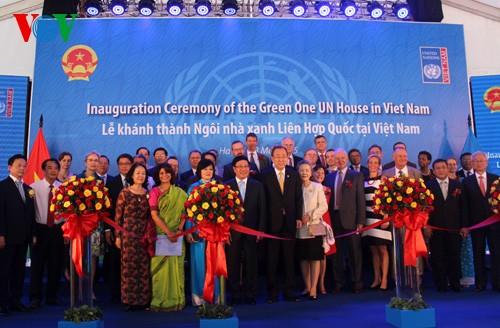 Ban Ki-moon nimmt an Einweihung des Green One UN House in Vietnam teil - ảnh 1