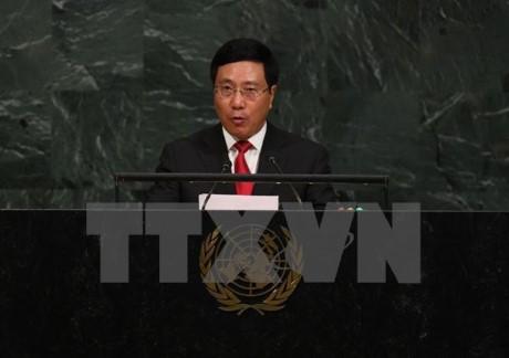 Aktivitäten von Vizepremierminister Pham Binh Minh im Rahmen der UN-Vollversammlung - ảnh 1