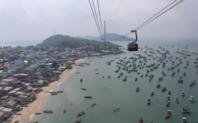 Eröffnung der weltweit längsten Seilbahn über das Meer - ảnh 1