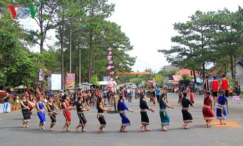 Straßenfest – typisch für das Hochland Tay Nguyen - ảnh 1