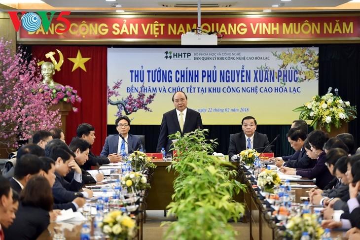 Der Premierminister: Hochtechnologiezone Hoa Lac ist der beste Ort für Startups - ảnh 1