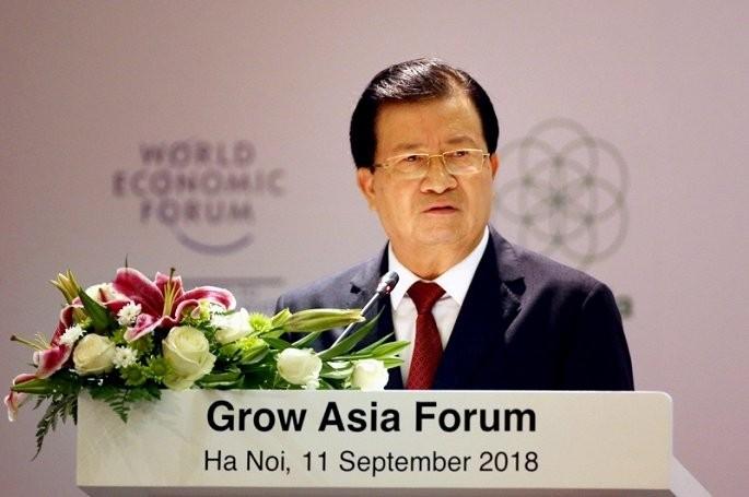 Vizepremierminister Trinh Dinh Dung nimmt am Forum über Asiens Wachstum teil - ảnh 1