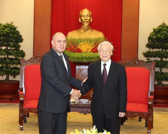 KPV-Generalsekretär Nguyen Phu Trong empfängt Delegationen aus China und Kuba - ảnh 1