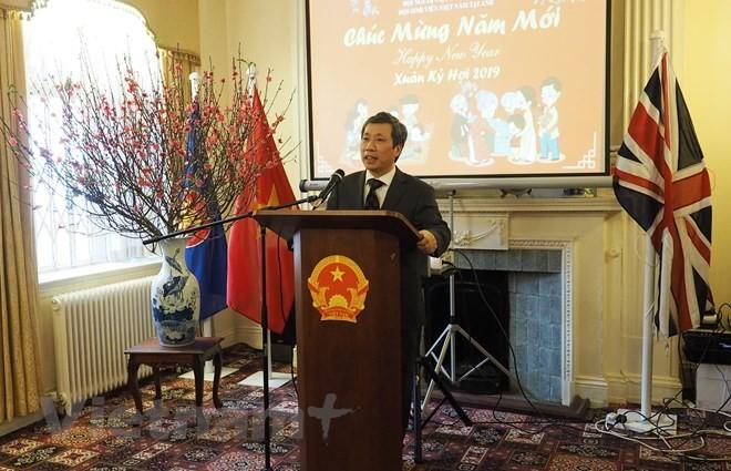 Auslandsvietnamesen feiern das Neujahrsfest Tet - ảnh 1