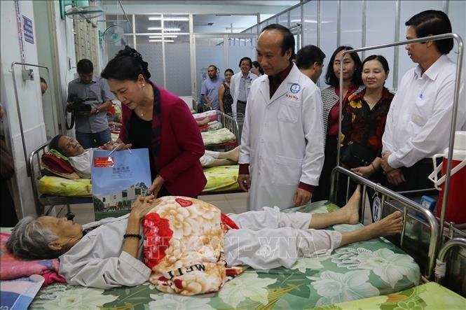Parlamentspräsidentin Nguyen Thi Kim Ngan besucht Tien Giang - ảnh 1
