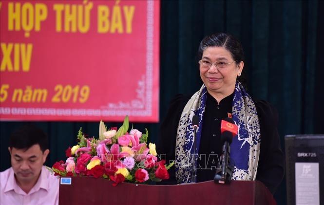 Ständige Vizeparlamentspräsidentin Tong Thi Phong trifft Wähler in Son La - ảnh 1