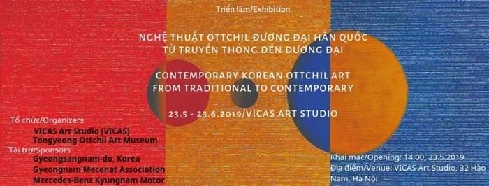 Ausstellung über die südkoreanische Ottchil-Kunst in Hanoi - ảnh 1