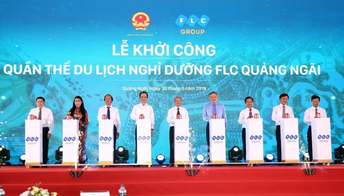 Spatenstich für den Bau des Erholungskomplexes FLC Quang Ngai - ảnh 1