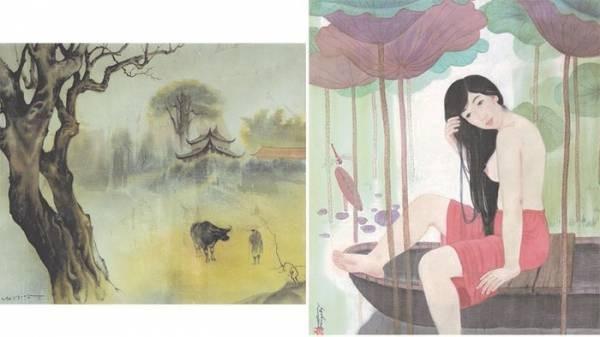 Seidenbilderausstellung von Malern aus Hanoi und Ho-Chi-Minh Stadt - ảnh 1