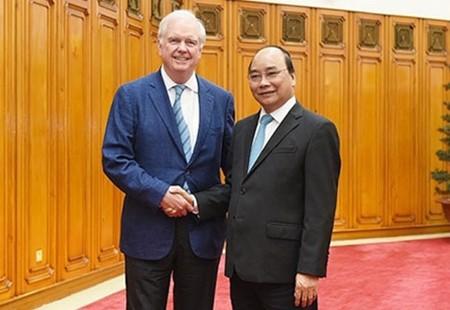 阮春福会见美国哈佛大学越南计划主任托马斯·瓦雷利 - ảnh 1