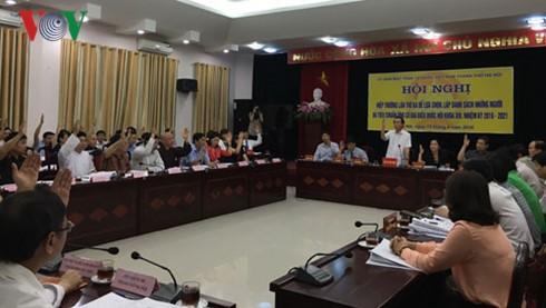 越南各地选择达标的国会代表和人民议会代表候选人 - ảnh 1