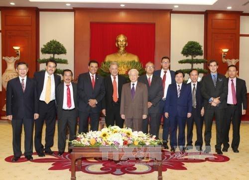 越共中央总书记阮富仲会见墨西哥劳动党代表团 - ảnh 1