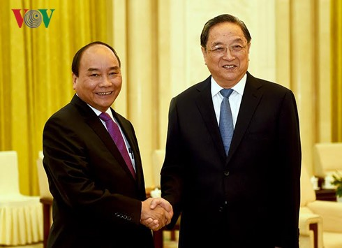 阮春福会见中国全国政协主席俞正声 - ảnh 1