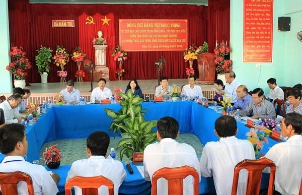 越南国家副主席邓氏玉盛视察平顺省 - ảnh 1