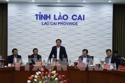 越南政府副总理王庭惠在老街省考察调研 - ảnh 1