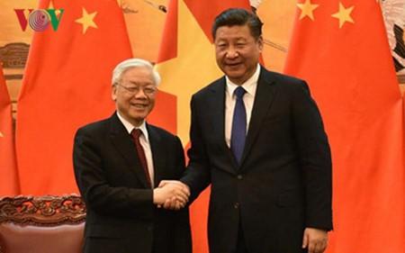 阮富仲向中共中央总书记、国家主席习近平致感谢电 - ảnh 1