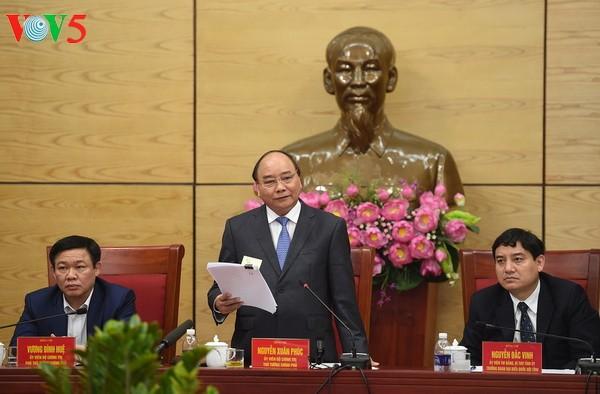 阮春福要求义安省2025年成为中等发展水平省份 - ảnh 1