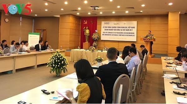 越南企业可持续发展情况评估活动在河内启动 - ảnh 1