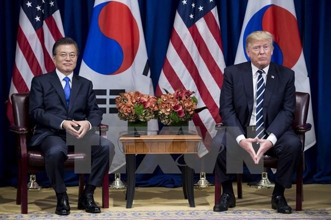 朝核问题成为韩美峰会讨论的重心议题 - ảnh 1