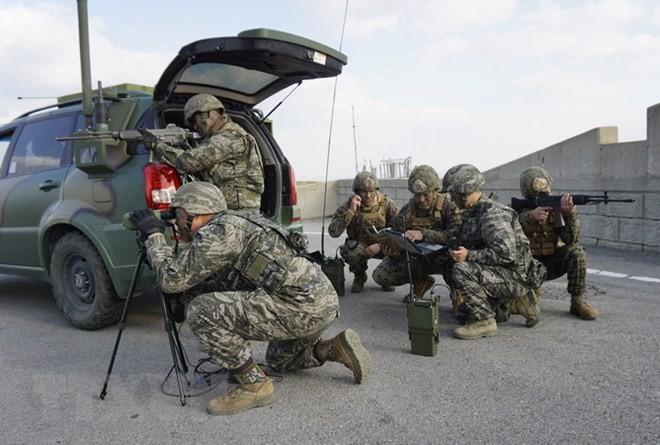 韩美确定驻韩美军防卫费分担谈判时间 - ảnh 1