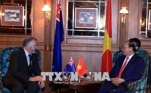 阮春福会见新西兰议会议长特莱弗‧马拉德 - ảnh 1