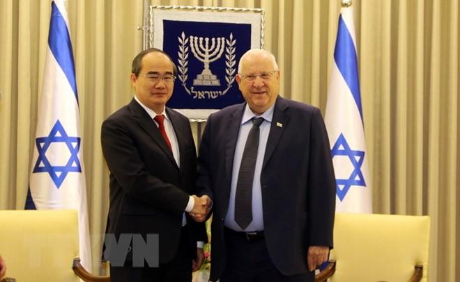 胡志明市委书记阮善仁会见以色列总统里夫林 - ảnh 1
