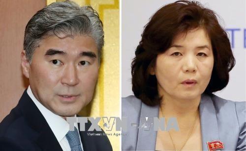 美朝两国政府官员在板门店举行第五次磋商 - ảnh 1
