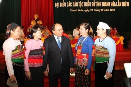 Vizepremierminister Nguyen Xuan Phuc nimmt an Konferenz der Minderheitsvölker in Thanh Hoa teil - ảnh 1