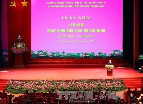 Feier zum 125. Geburtstag des Präsidenten Ho Chi Minh - ảnh 1