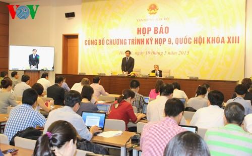Pressekonferenz im Vorfeld der 9. Sitzung des Parlaments - ảnh 1