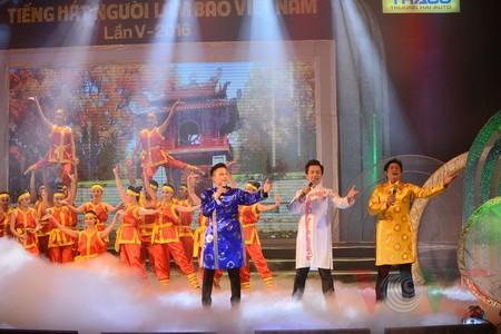 """Das Potpourri """"Hanoi im Herbst"""" geht ins Finale des Gesangsfestivals für Journalisten 2016 - ảnh 3"""
