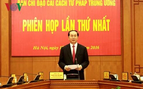 Erste Sitzung des Verwaltungsstabs für die Justizreform - ảnh 1
