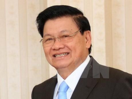Laotischer Premierminister Thongloun Sisoulith reist für Sitzung beider Regierungen nach Vietnam - ảnh 1