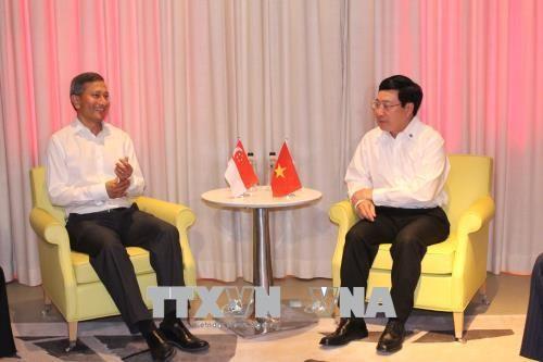 Aktivitäten von Vizepremierminister, Außenminister Pham Binh Minh am Rande der Konferenz AMM Retreat - ảnh 1