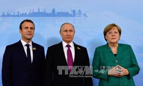Merkel, Macron und Putin führen Telefongespräch über Syrien - ảnh 1