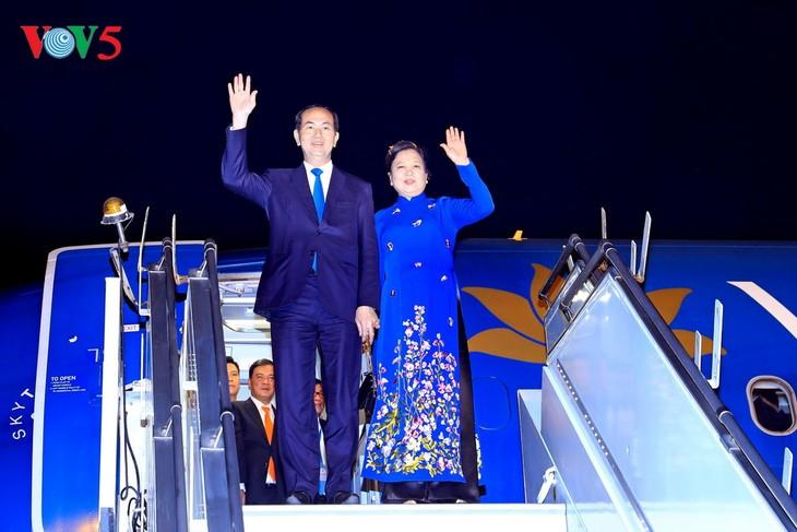 Staatspräsident Tran Dai Quang startet seinen Staatsbesuch in Indien - ảnh 1
