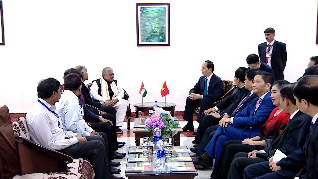 Staatspräsident Tran Dai Quang startet seinen Staatsbesuch in Indien - ảnh 2